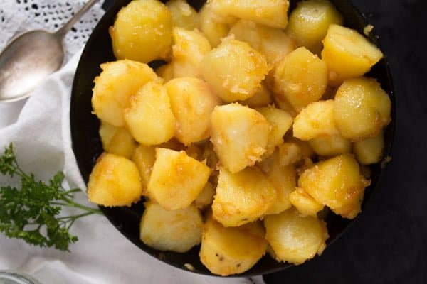 caramelized potatoes 1 Caramelized Potatoes – Side Dish – Icelandic Recipes