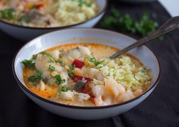 Brazilian fish stew moqueca