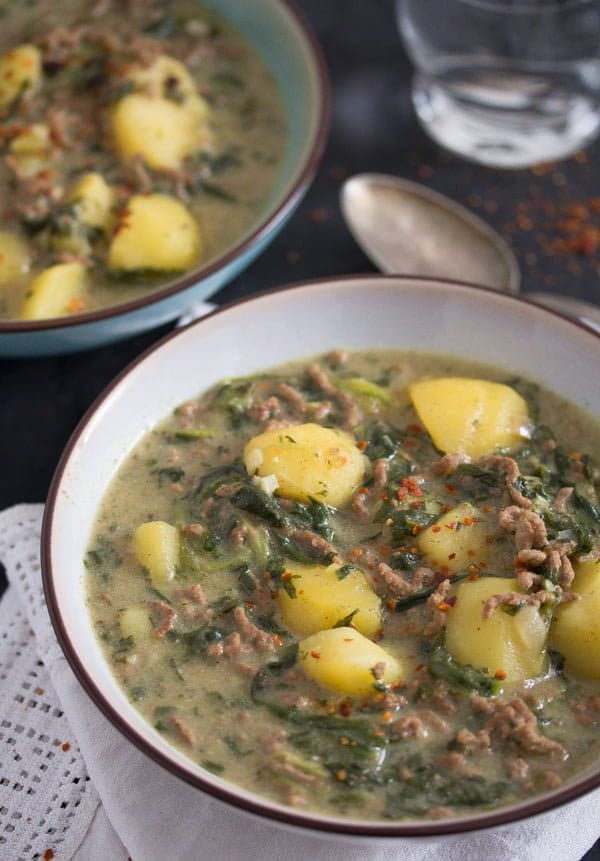 beef spinach curry 7 Easy Beef Potato Curry with Yogurt and Spinach