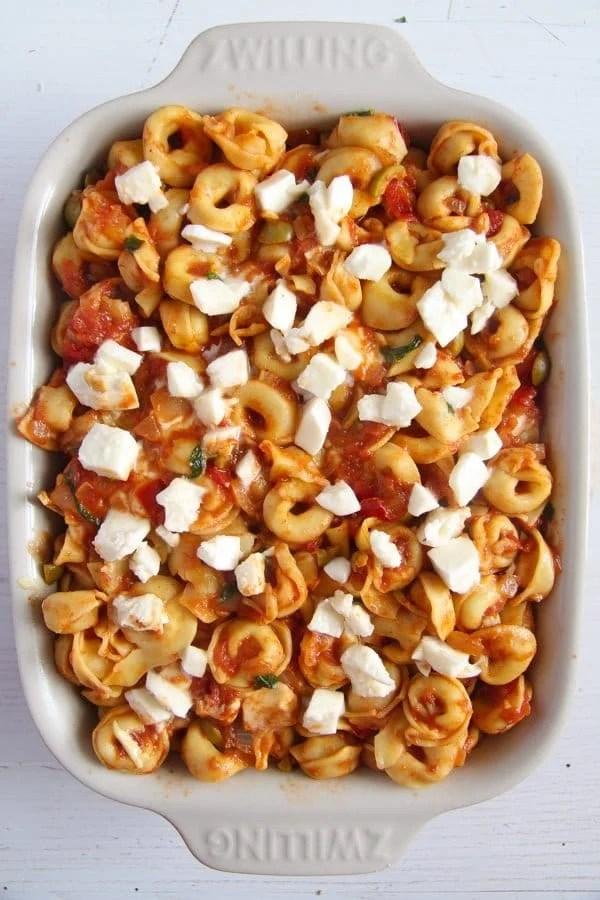 tortellini casserole 3 3 Easy Baked Tortellini with Tomatoes, Mozzarella and Basil