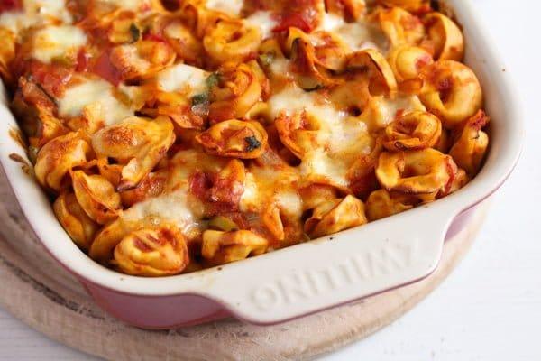tortellini casserole 6 6 Easy Baked Tortellini with Tomatoes, Mozzarella and Basil