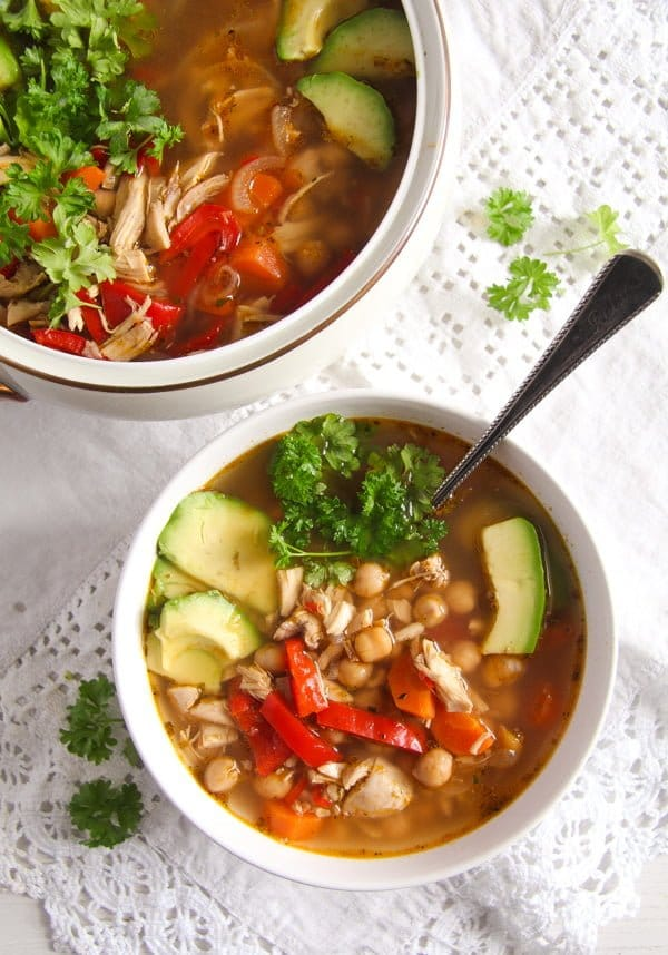 IMG 6437 Mexican Chicken Soup with Avocado and Chickpeas