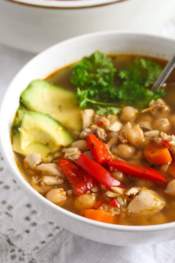 IMG 6451 Mexican Chicken Soup with Avocado and Chickpeas