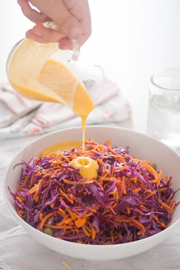 IMG 2213 Red Cabbage Slaw with CBD Oil Infused Peach Salad Dressing