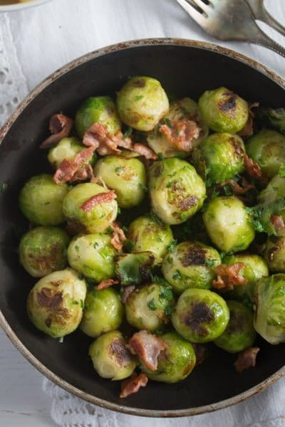 brussels sprouts garlic 6 Brussels Sprouts with Garlic and Bacon