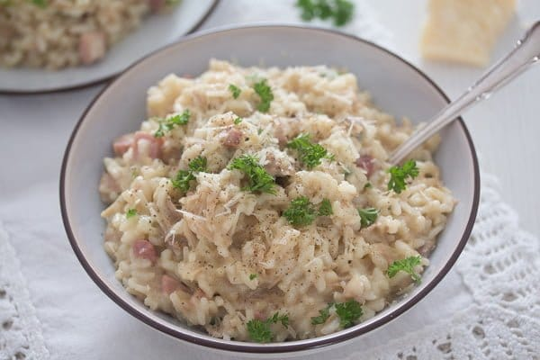 risotto with leftover turkey 11 Leftover Turkey Risotto Recipe – Turkey Leftover Ideas