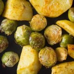 %name Roasted Brussels Sprouts and Potatoes with Rosemary