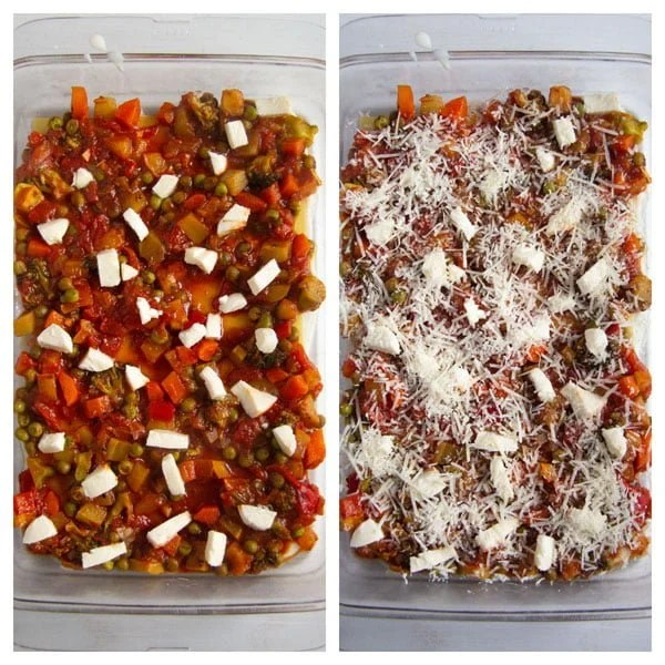 how to make lasagna 2 Vegetable Lasagna with White Sauce (or Bechamel Sauce)