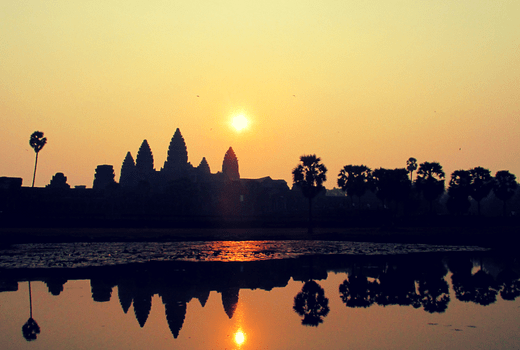 Watching the Sunrise at Angkor Wat
