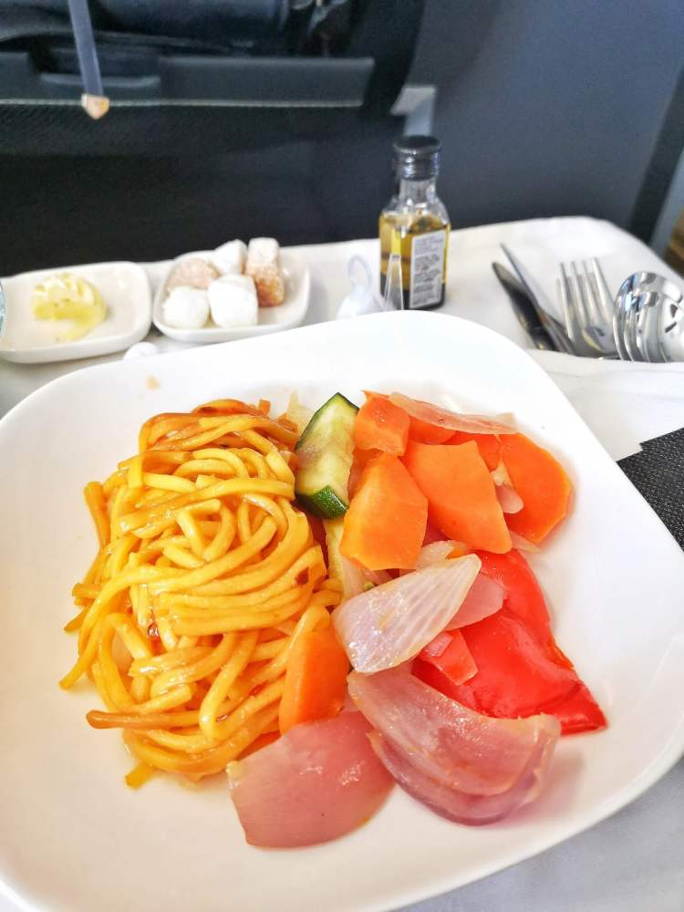 aer lingus business class main meal