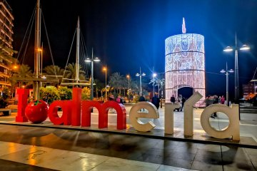 Christmas in Almería city spain