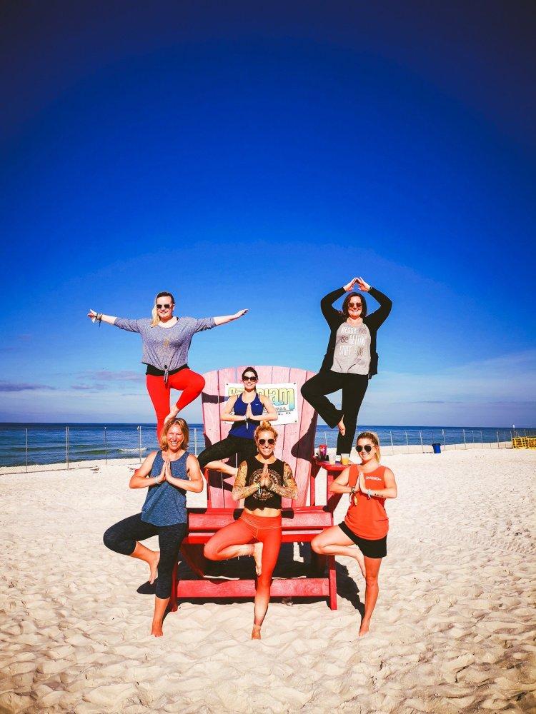 yoga on the beach in Panama City Beach FL