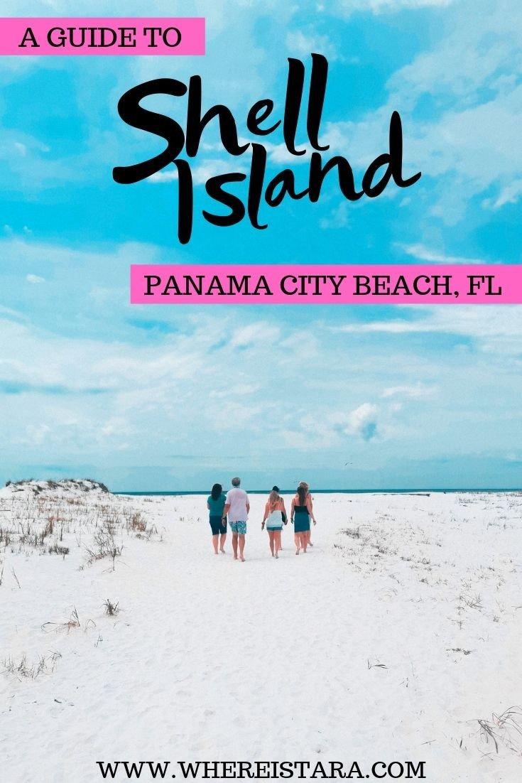 shell island panama city beach day trip pin