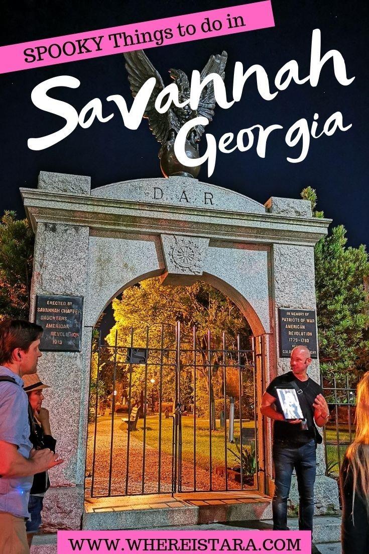 spooky savannah Georgia pin