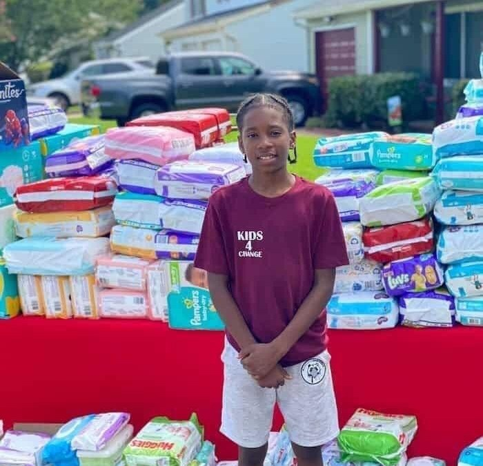 11-Year-Old Cartier Carey Donates Over 22,000 Diapers To Single Moms