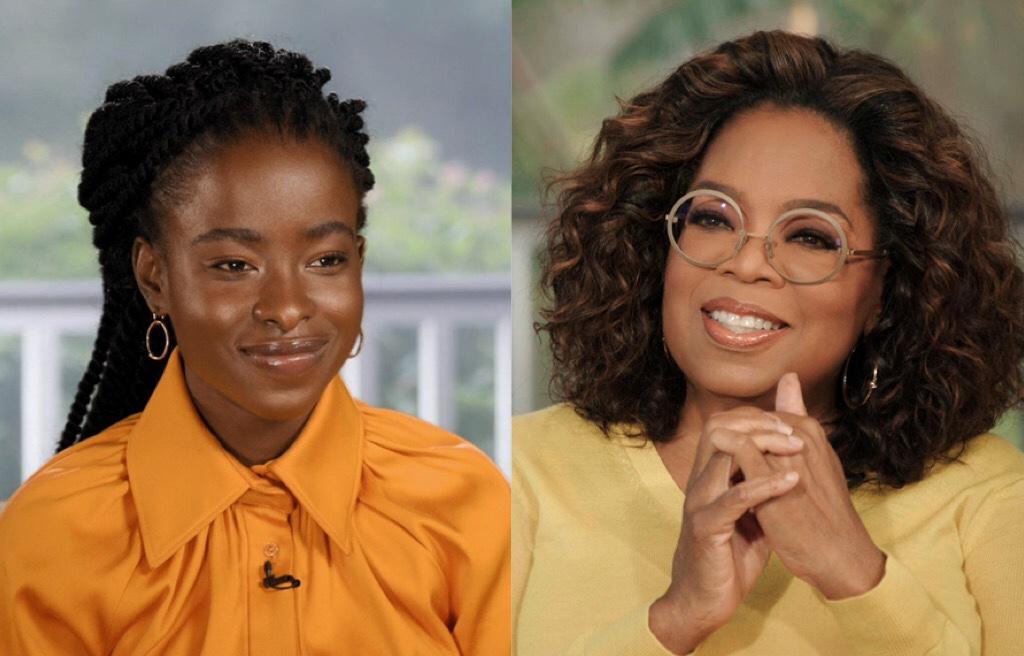 "Oprah Winfrey speaks with poet laureate Amanda Gorman for ""The Oprah Conversation,"" Friday, March 26, on Apple TV+"