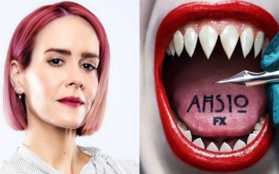 "Sarah Paulson's Character in ""American Horror Story: Double Feature"" Has Pink Hair"