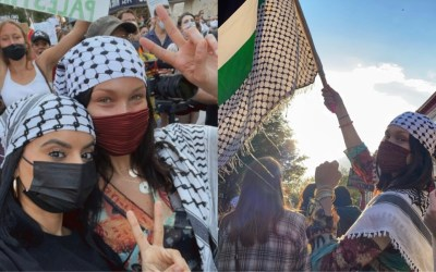Bella Hadid Shows Her Support For Palestine at the #FreePalestine Protest in New York City