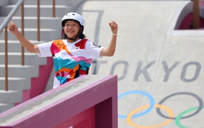 Japan's 13-Year-Old Momiji Nishiya Wins the First-Ever Gold Medal in Women's Skateboarding at the Olympics