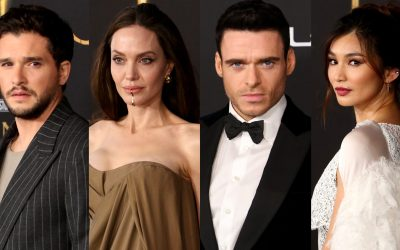 "First Look of Angelina Jolie, Richard Madden, Salma Hayek, Gemma Chan, Kit Harington, Lauren Ridloff, and More at the Marvel's ""ETERNALS"" Premiere"