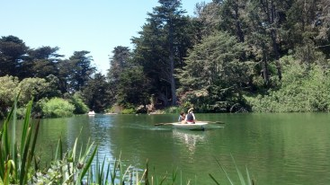 People Boating in the Gardens