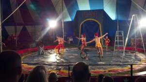 Unicycling Family at the Culpepper & Merriweather Circus