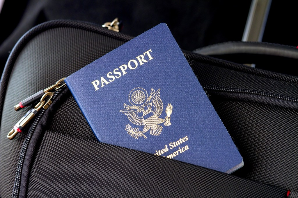 passport in a bag