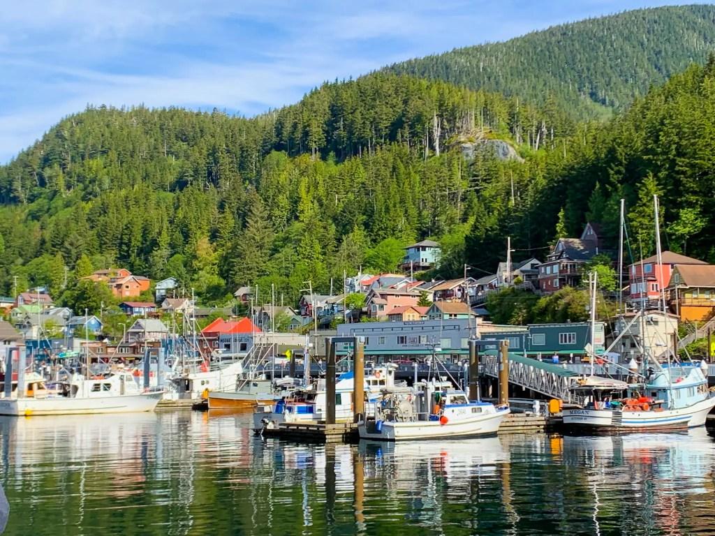 view of the coastline in Ketchikan, Alaska