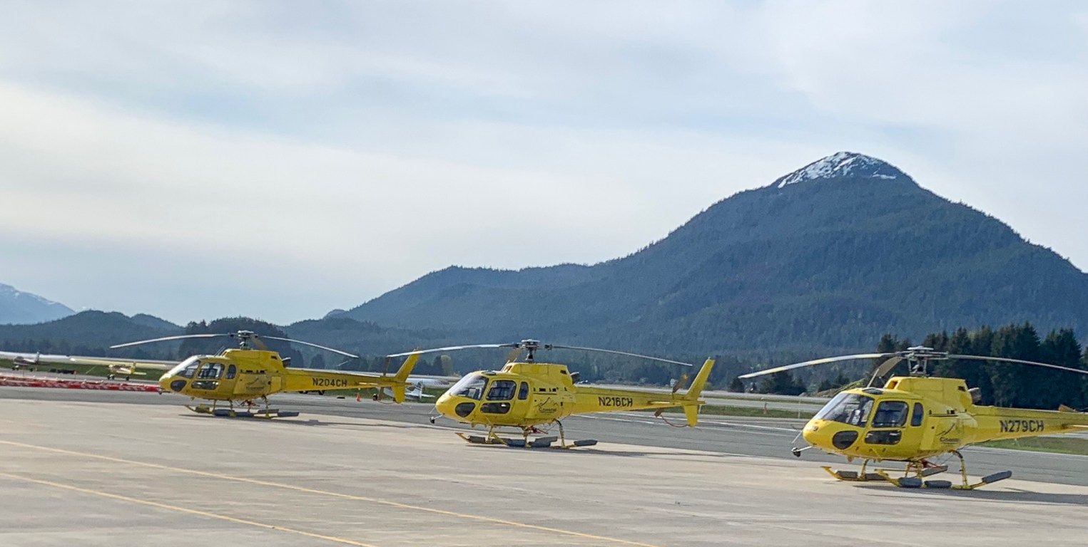 helicopters at Juneau Airport