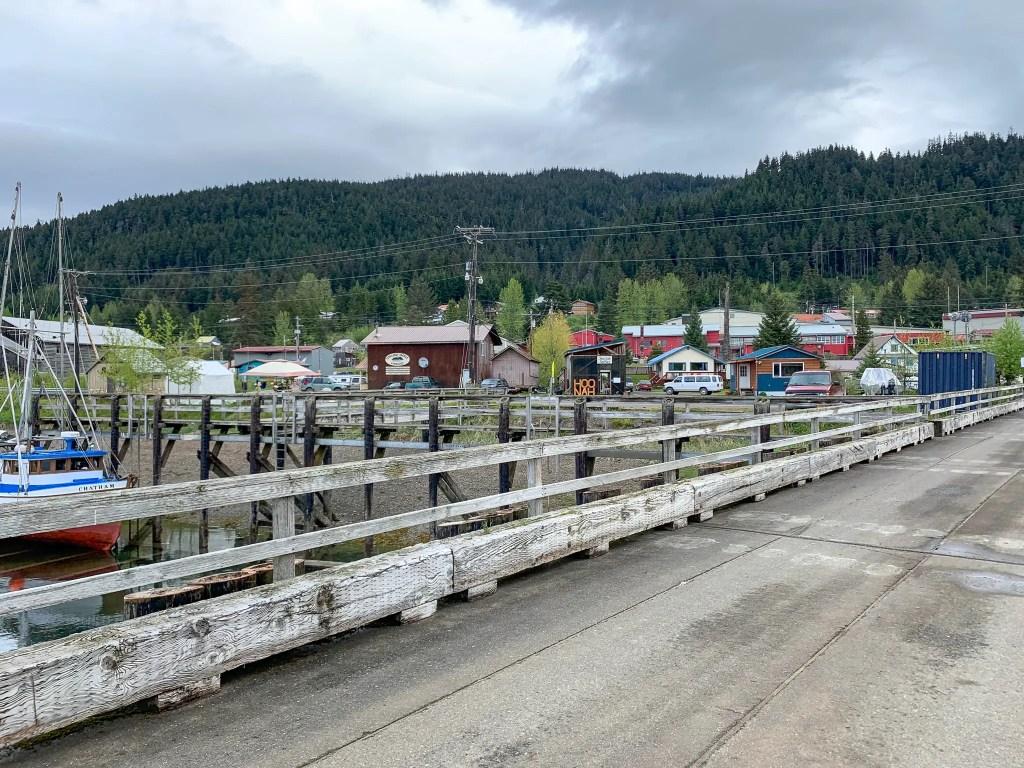 Town of Hoonah, Alaska, stop on an Alaskan cruise