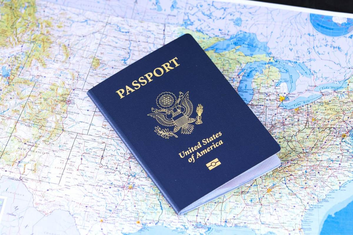 map with passport