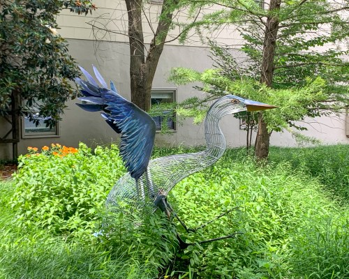 bird sculpture in Annapolis, Maryland