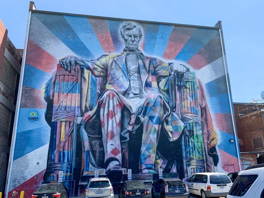 Lincoln street mural in Lexington, Kentucky