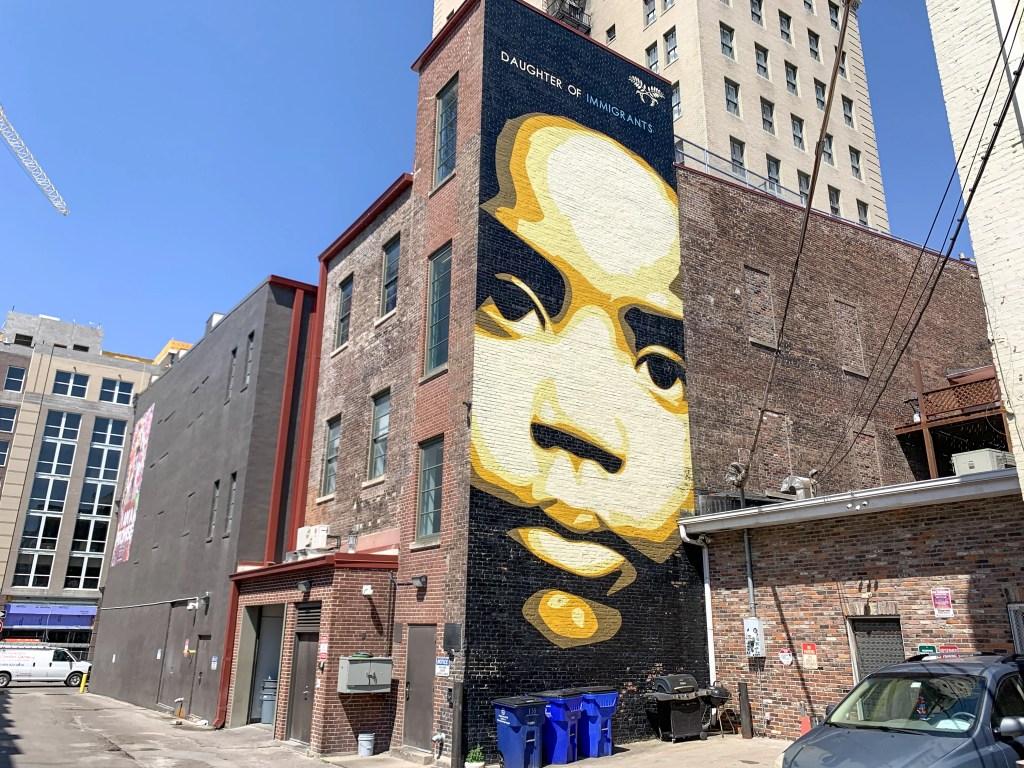Daughter of Immigrants street mural in Lexington, Kentucky