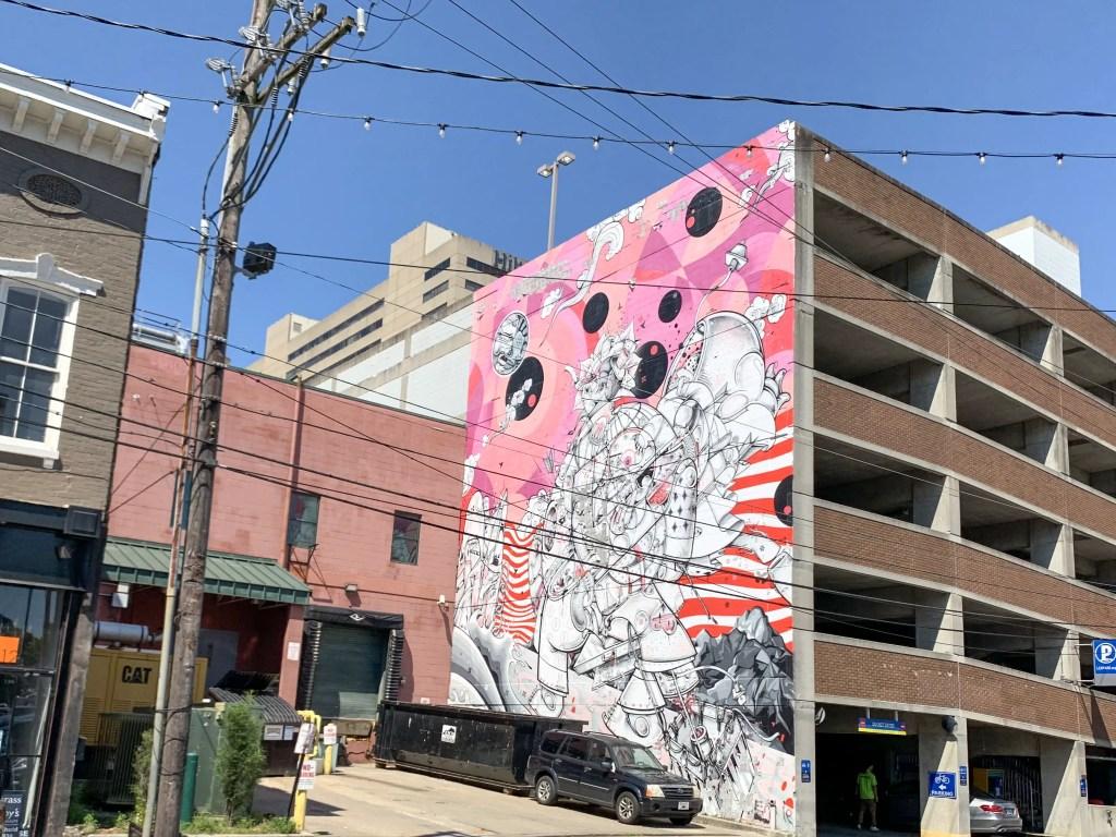Moonshine street mural in Lexington, Kentucky