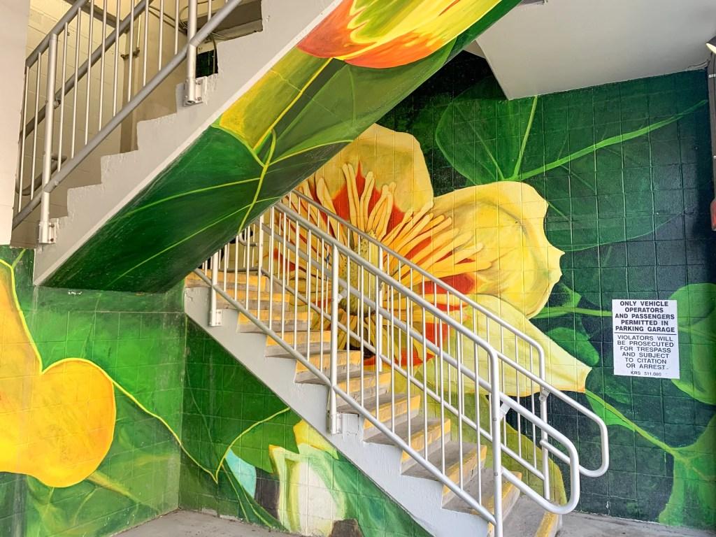 Tulip Poplar street mural in Lexington, Kentucky