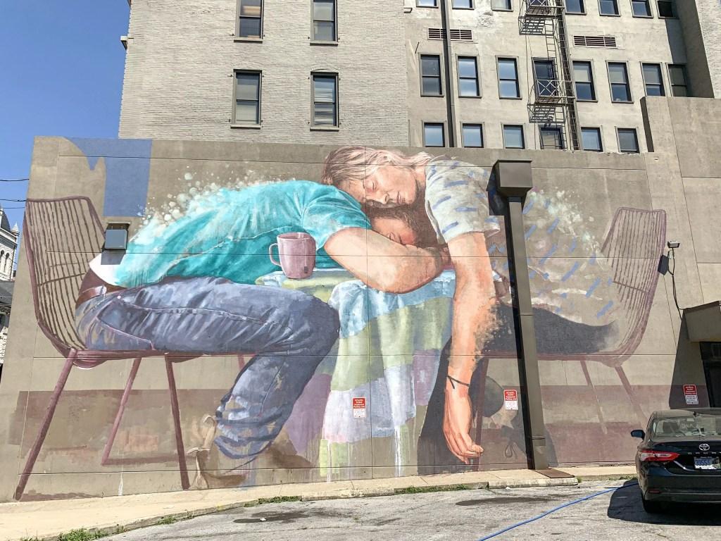 Untitled street mural in Lexington, Kentucky