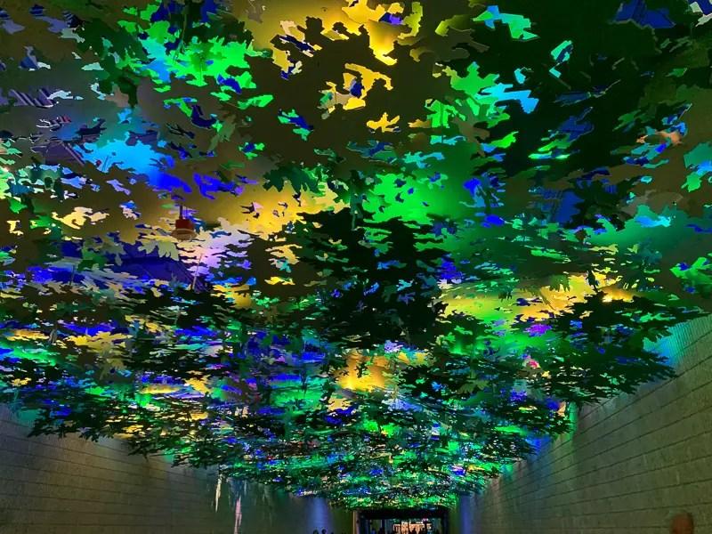 Flight Path art installation at ATL airport