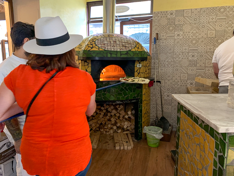 making pizza in Naples