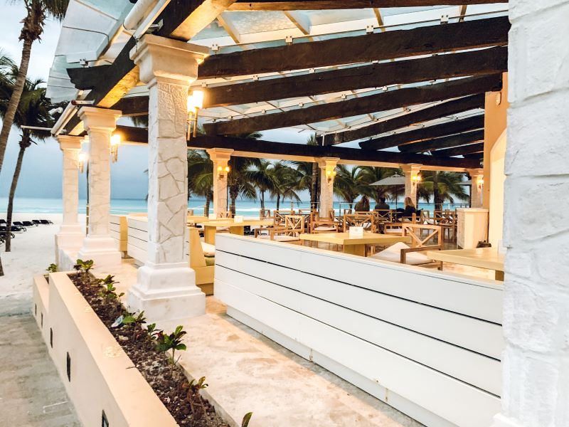 One of the six restaurants at the Royal Hideaway in Playa del Carman.