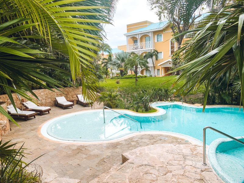 A private pool at the Royal Hideaway Playacar Playa del Carman.