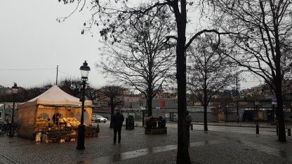 One of the first stalls to open at the Gamla stan Christmas market.