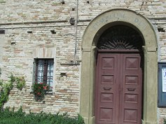 The entrance to the curch in Fonte Corniale