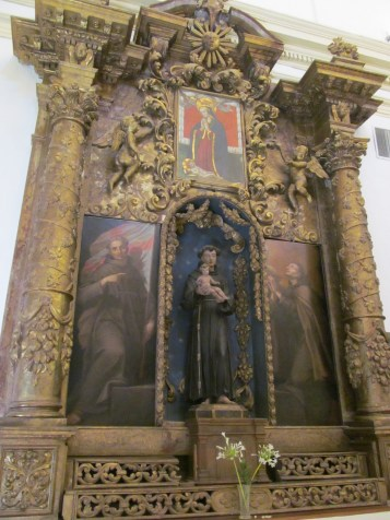 Saint Francis inside the church