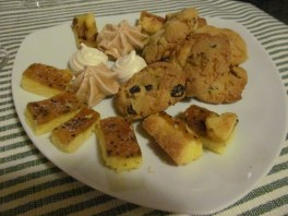 Home-baked biscuits and cakes