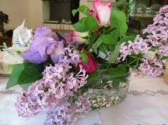 Iris, lilacs, roses from our garden