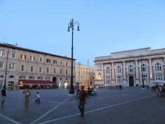 Piazza del Popolo in the heart of Pesaro