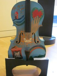 Cello decorated by Giosetta Fioroni, painter