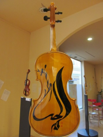 Violin decorated by Bibi Trabucchi, artist