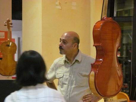 Violin maker Daniele Canu